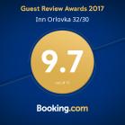 Наша награда от Booking.com